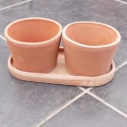 Coppia vasi in cotto
